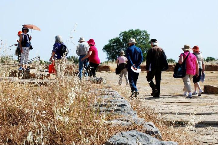 Les Amis du musée Saint-Raymond visitant un site archéologique